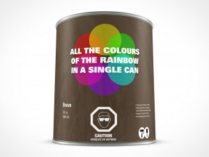PSD Standing 946mL Paint Can Mockup
