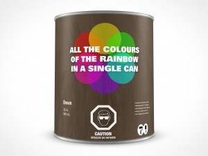 PSD 946mL Standing Paint Can Mockup