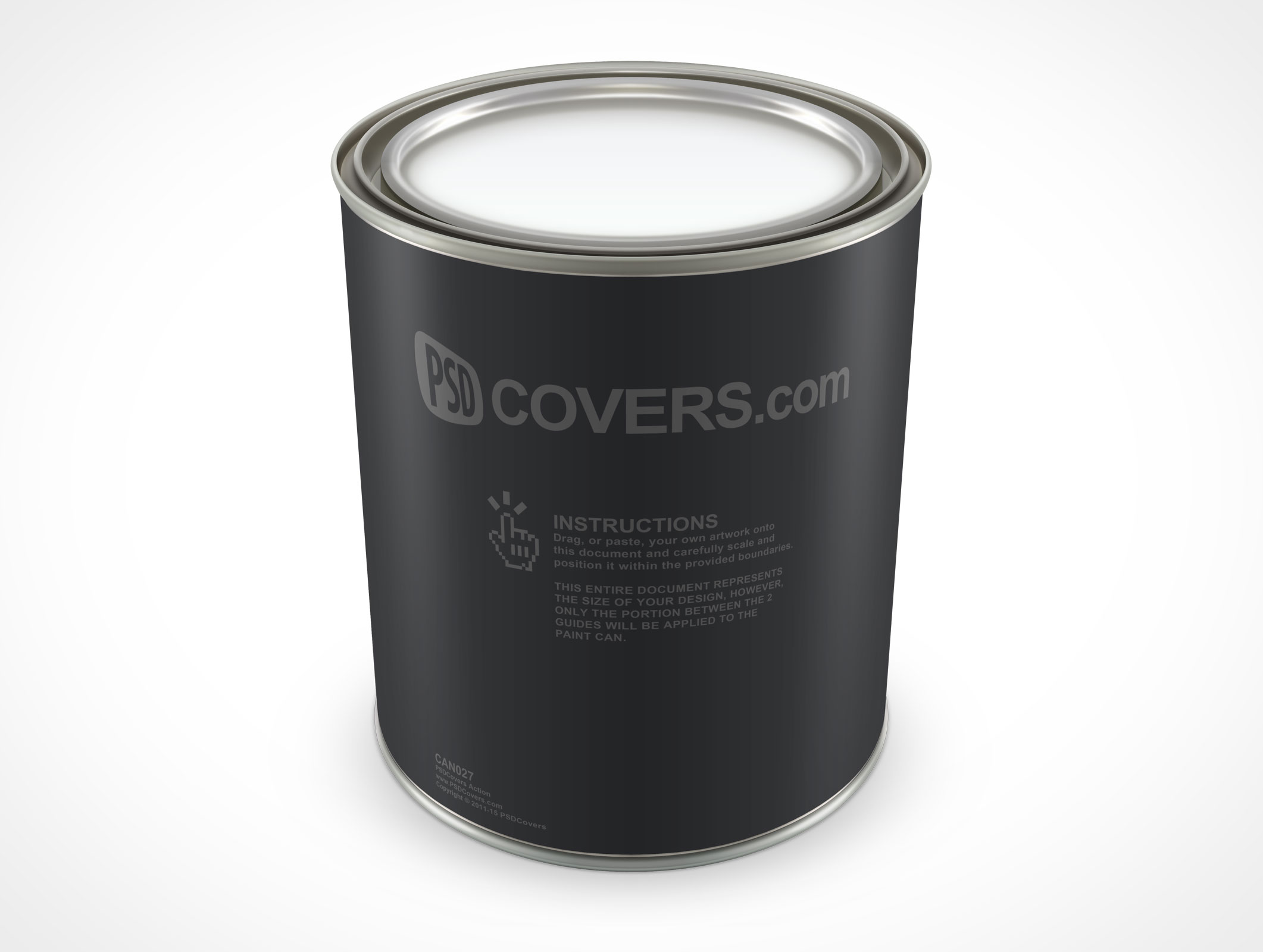 PSD Mockup 32oz Standing Paint Can Top View