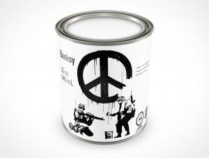 PSD Mockup 946mL Banksy Paint Can