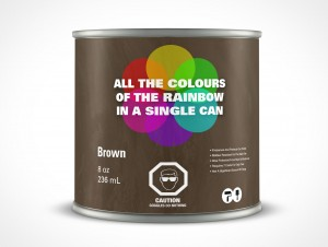 PSD Standing 236mL Paint Can Mockup