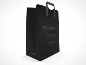 PSD Mockup Shopping Grocery Paper Bag three quarter view
