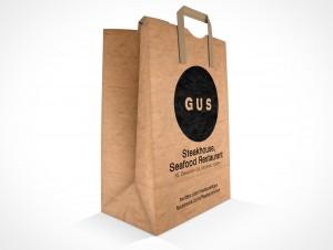 PSD Mockup GUS Steakhouse Restaurant Paper Bag