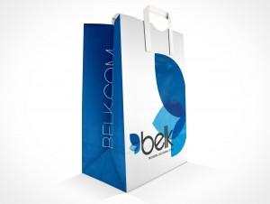 PSD Mockup Sample Paper Shopping Bag