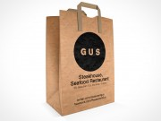 PSD Mockup GUS Steakhouse Restaurant Paper Bag