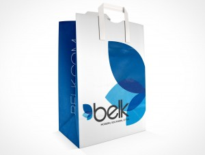 PSD Mockup Sample Paper Shopping Bag
