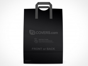 PSD Mockup Shopping Grocery Paper Bag facing forward