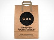 PSD Mockup GUS Steakhouse Restaurant forward facing Paper Bag