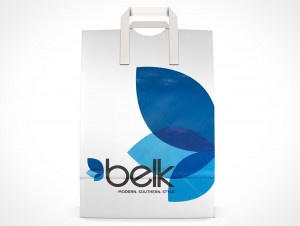 PSD Mockup Front Paper Shopping Bag