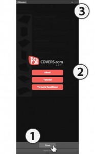 psdcovers panel about modal