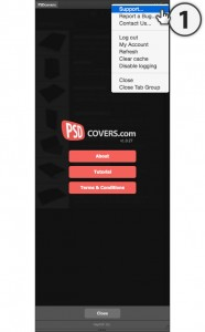 psdcovers panel support flyout menu