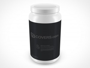 PSD Mockup Above View Protein Powder Container 81oz