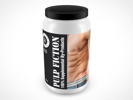 PSD Mockup Above View ISO Energy Powder Container 2.4L