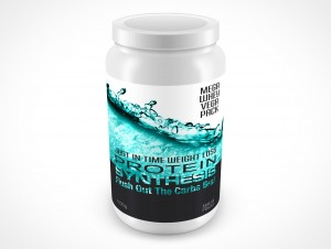 PSD Mockup Above View Protein Synthesis Powder Food