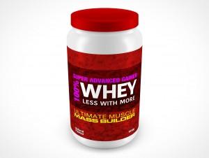 PSD Mockup Above View Muscle Protein Energy Powder