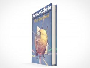 psdcovers Arthur C Clark hardbound book mockup