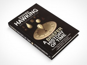 psdcovers hawking hardbound book laying on flat surface mockup