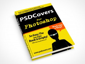 psdcovers hardbound book mockup on flat surface 30°