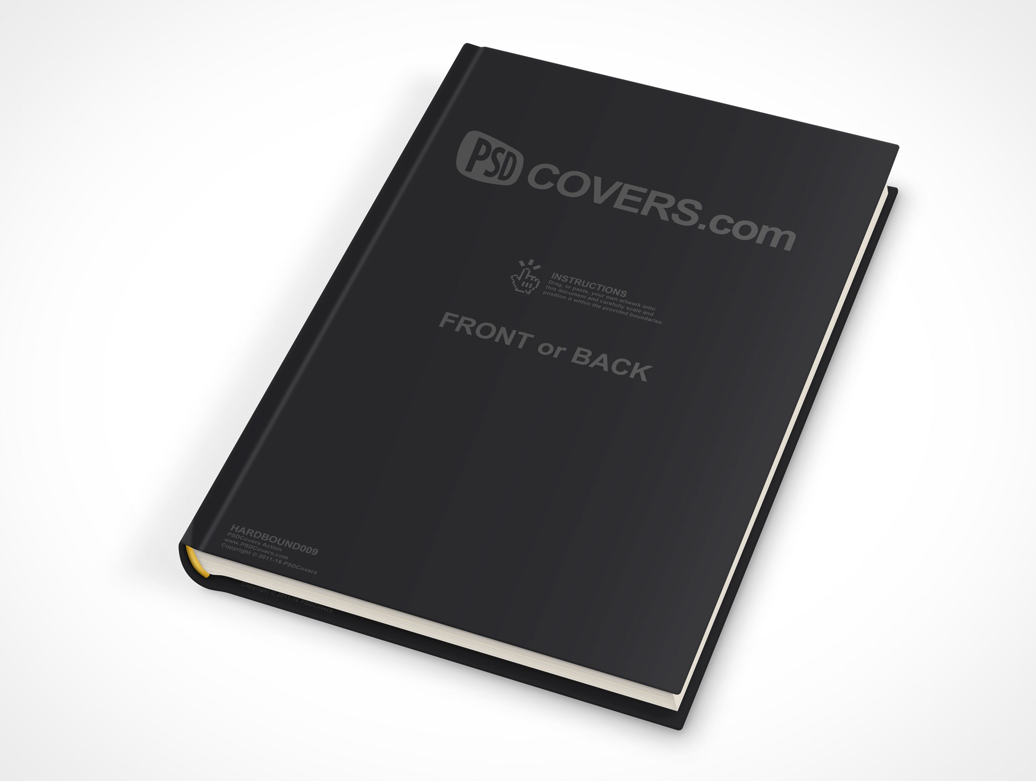 psdcovers laying down hardbound book mockup