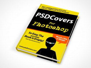 psdcovers hardbound book mockup on flat surface
