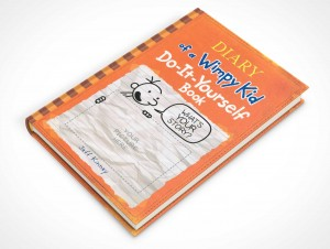 psdcovers childrens hardbound book mockup 45 degrees