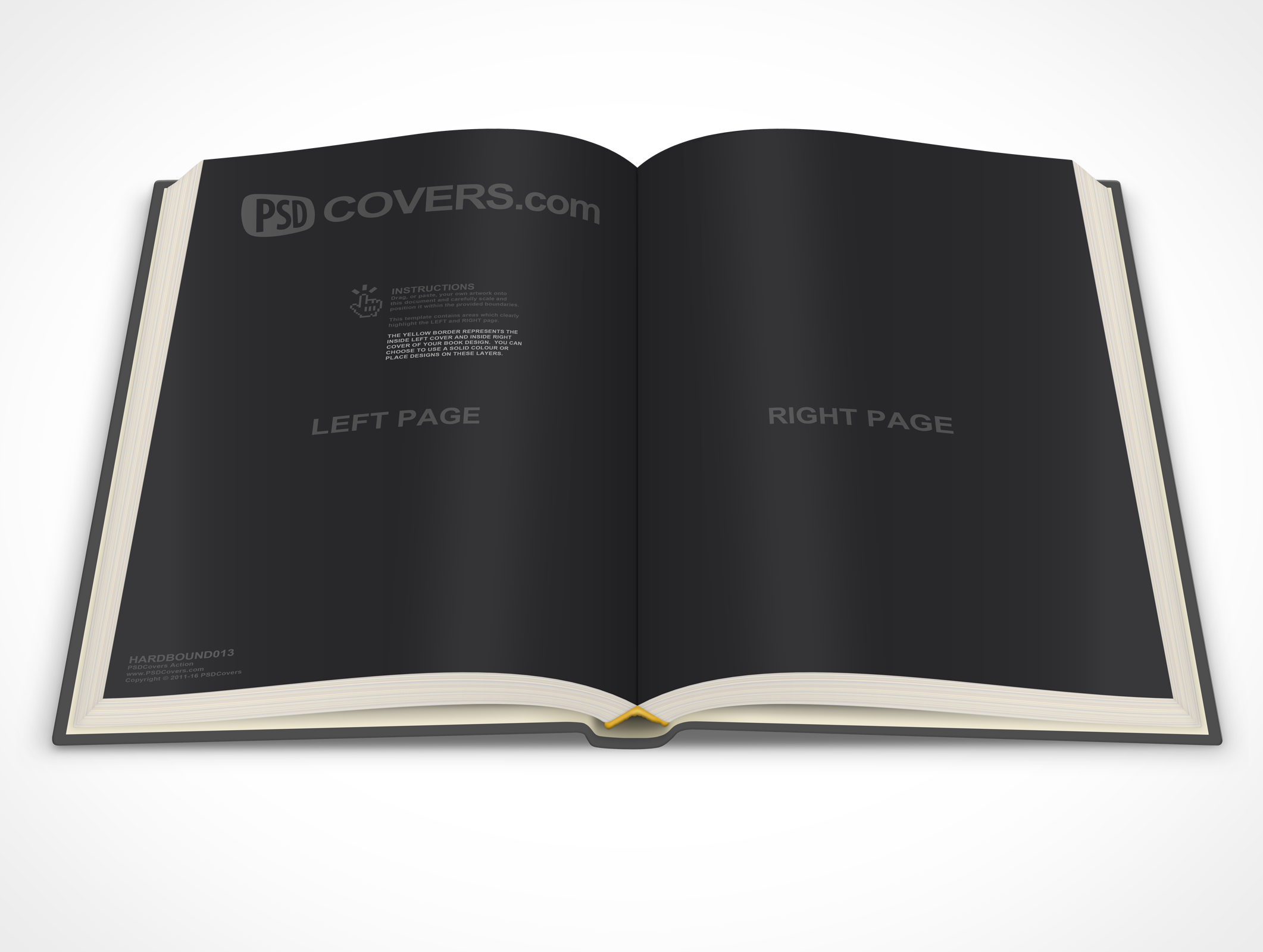 PSDcovers childrens hardbound book 45° looking down