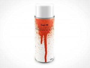 PSD Mockup Spray Can 340g