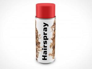 PSD Mockup Hairspray Spray Can 340g
