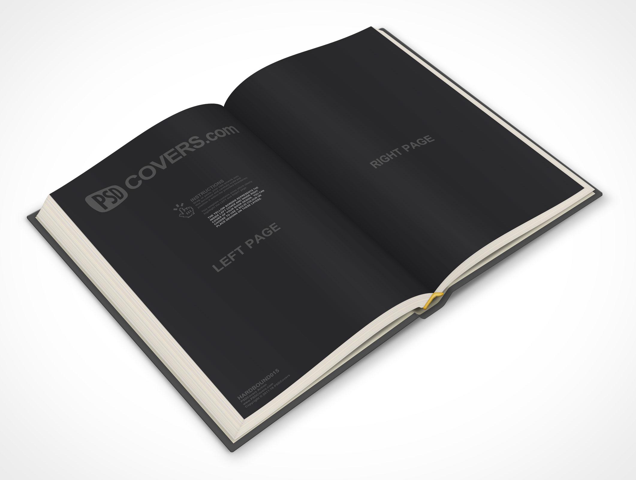 Hardcover Book Paper Cover : Hardbound market your psd mockups for hardcover