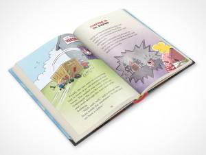 PSDcovers childrens hardbound book angled 45° top view