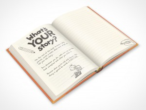 PSDcovers childrens hardbound book angled to 45°