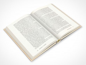 PSDcovers hardbound childrens book placed at 45°