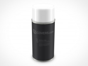 PSD Mockup Spray Can 213g 8ounce forward