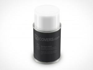 PSD Mockup Spray Can 85g forward shot
