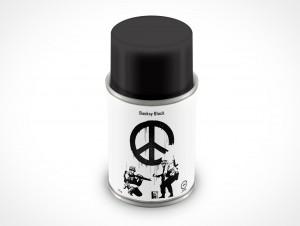 PSD Mockup Banksy Black Spray Can 85g