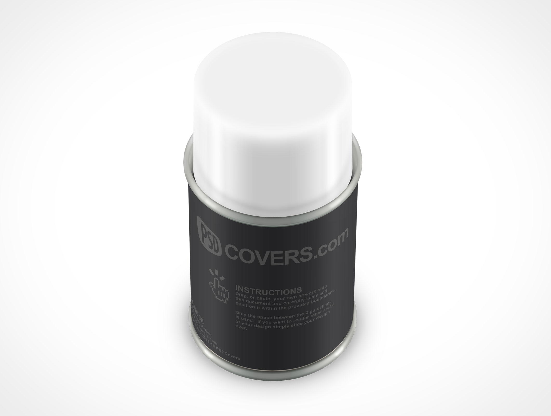 PSD Mockup Spray Can 85g forward shot