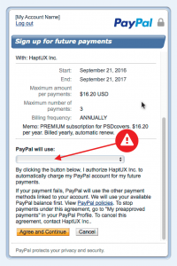The payment can not be processed because no payment source is available