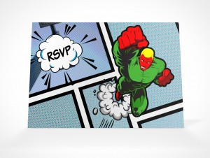 PSDCovers Invitation RSVP Card Angled View