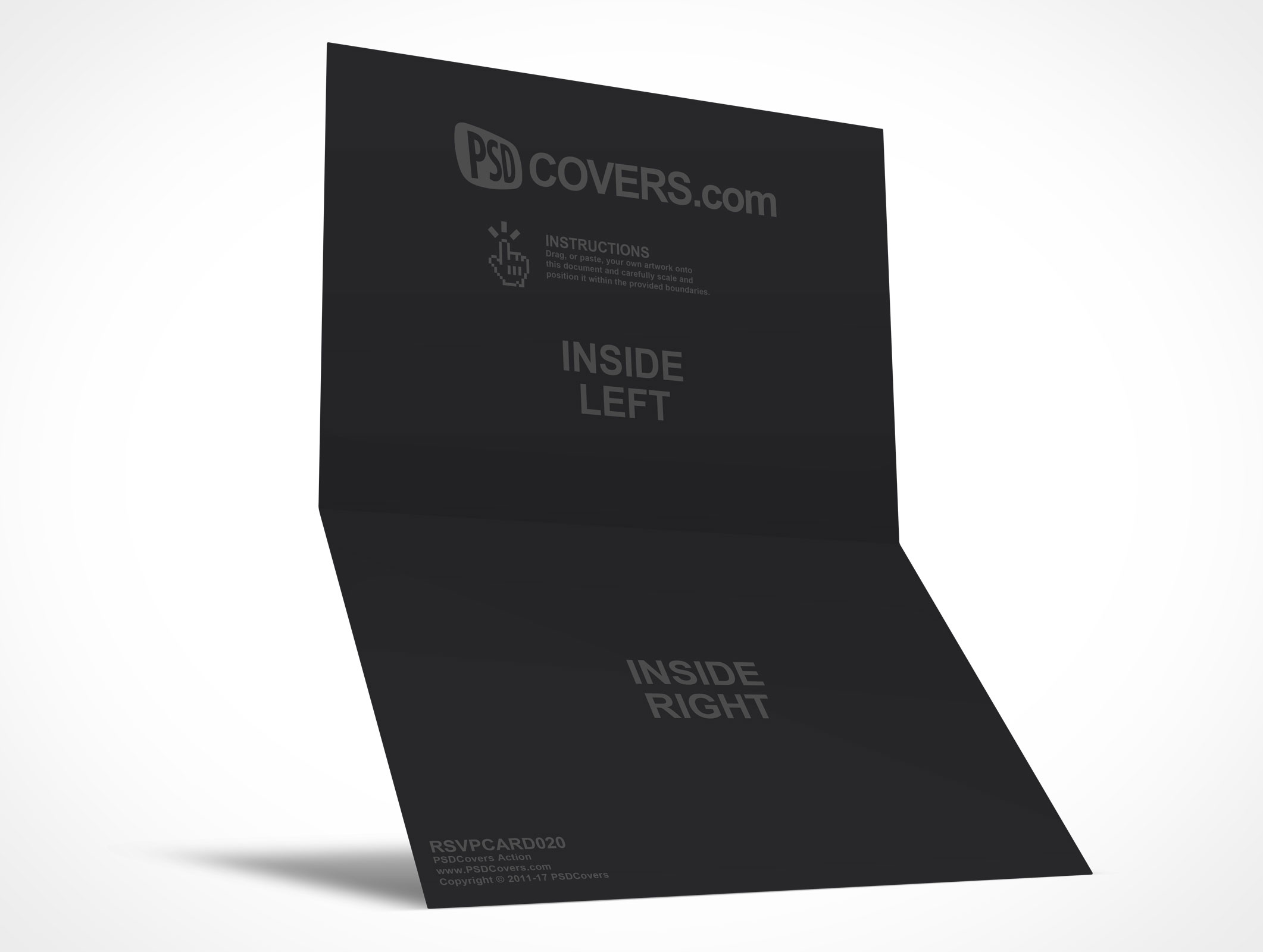 PSDCovers Upright RSVP Card Landscape