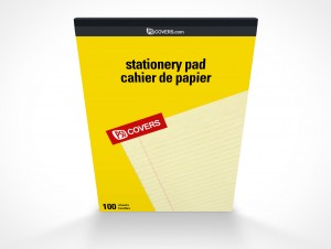 PSD Covers Stationery Note Pad Front Mockup