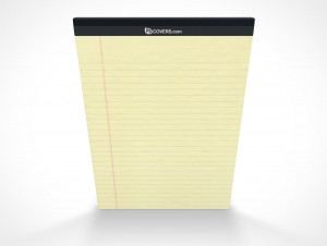 Notepad PSD Mockup Front Page