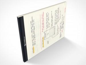 Landscape Mockup Stationery Notebook PSD Covers