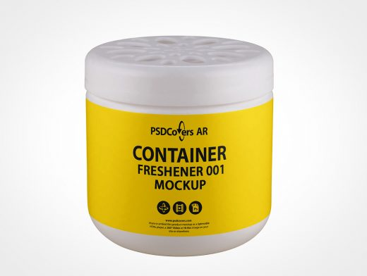 Room Freshener Container Mockup