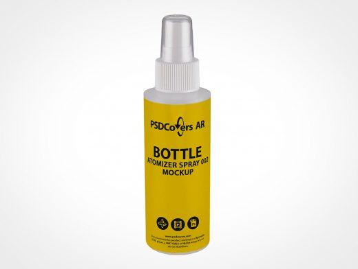 Small Cosmetic Spray Bottle Mockup