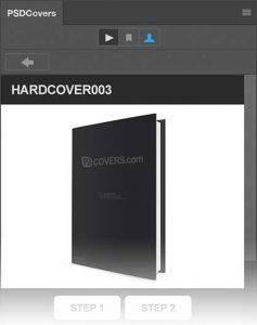 PSDCovers panel preview and mockup details
