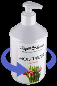 Liquid & Lotion Red Tulip Moisturizer Bottle Mockup