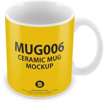 Ceramic Mug static view mockup