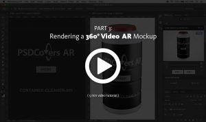 AR Mockup render 360 video