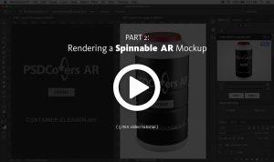 AR Mockup Spinnable Render