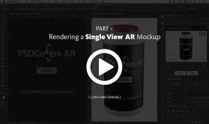 AR Mockup render Single View